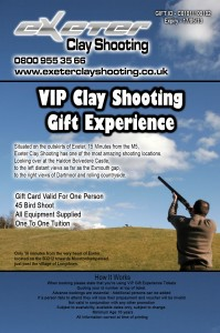 clay shooting voucher exeter